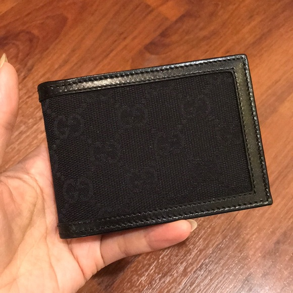 42ffb6ec15f NWT Gucci GG canvas Slim Bifold Men s Wallet